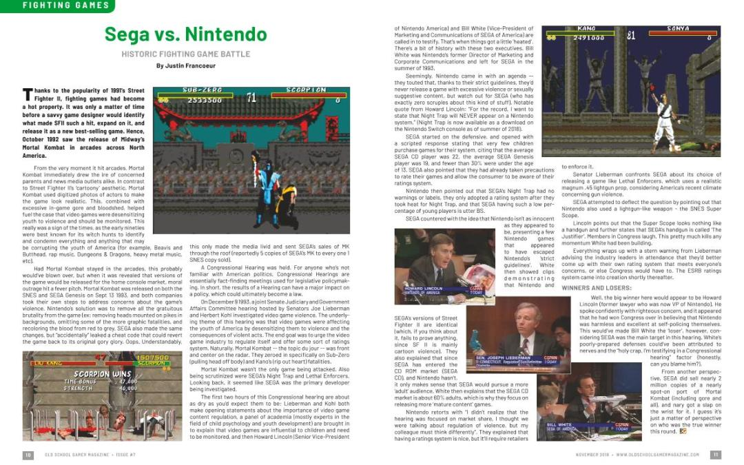 Sega vs. Nintendo – Historic Fighting Game Battle – By Justin Francoeur