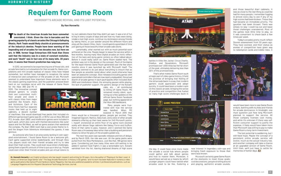 Requiem for Game Room – Microsoft's Arcade Revival and It's Lost Potential – By Ken Horowitz