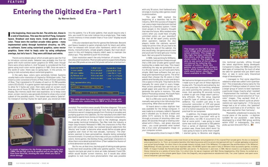 Entering the Digitized Era – Part 1 – By Warren Davis