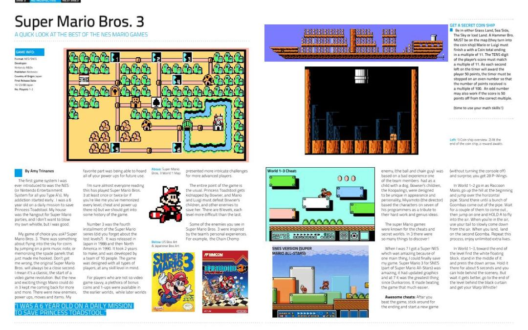 Super Mario Bros. 3 by Amy Trinanes