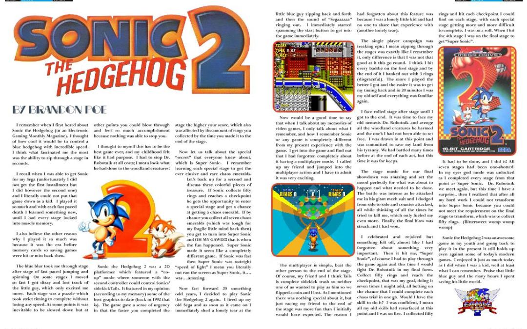 Sonic the Hedgehog 2 By Brandon Poe