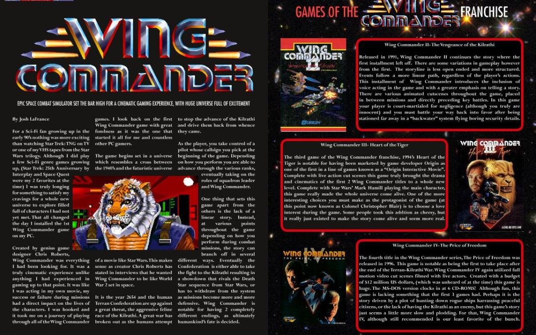 Wing Commander By Josh Lafrance Old School Gamer Magazine