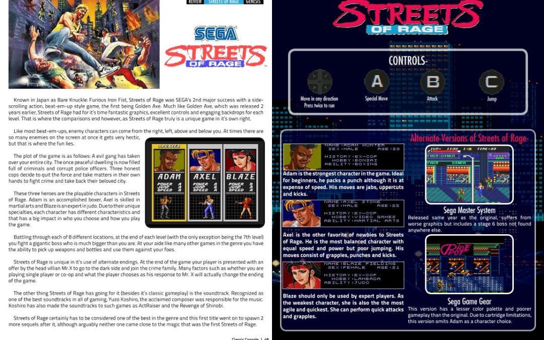 Sega: Streets of Rage