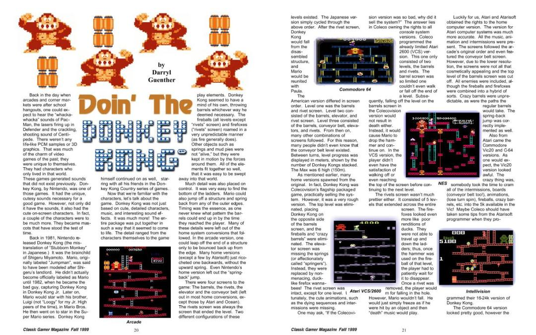 Doin' the Donkey Kong By by Darryl Guenther