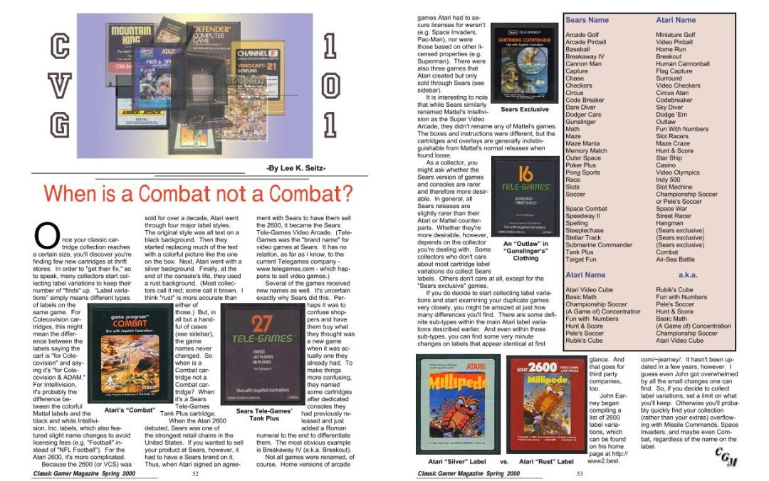 When is a Combat not a Combat? By Lee K. Seitz