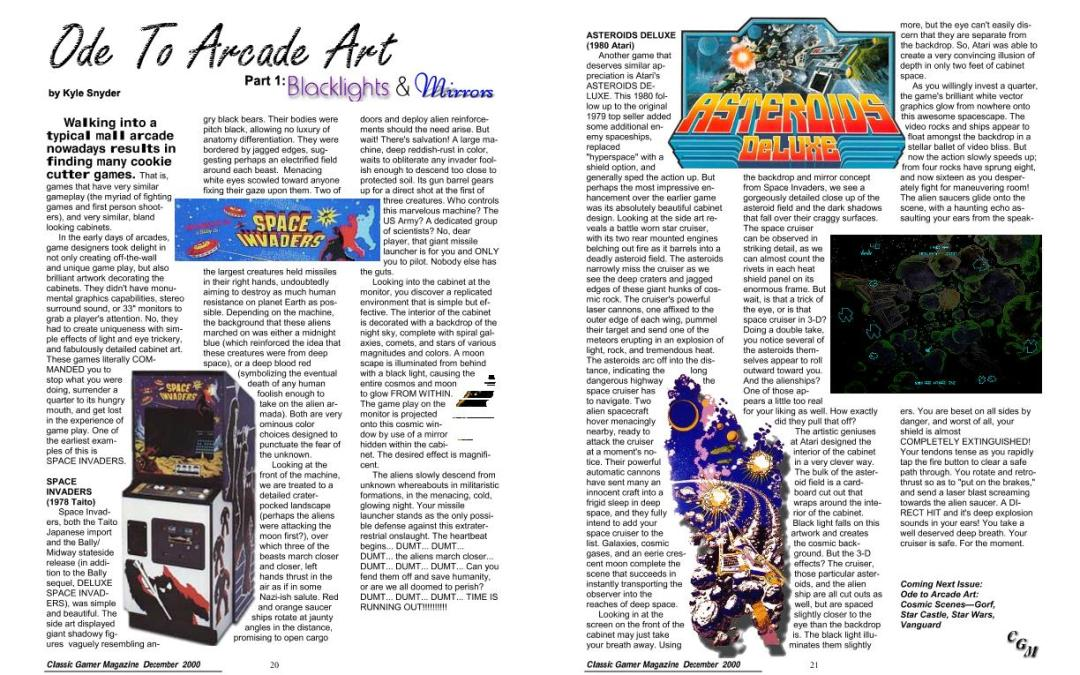 Ode To Arcade Art, Part 1: Blacklights and Mirrors