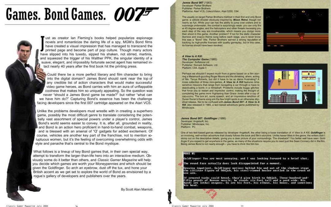 Games. Bond Games.