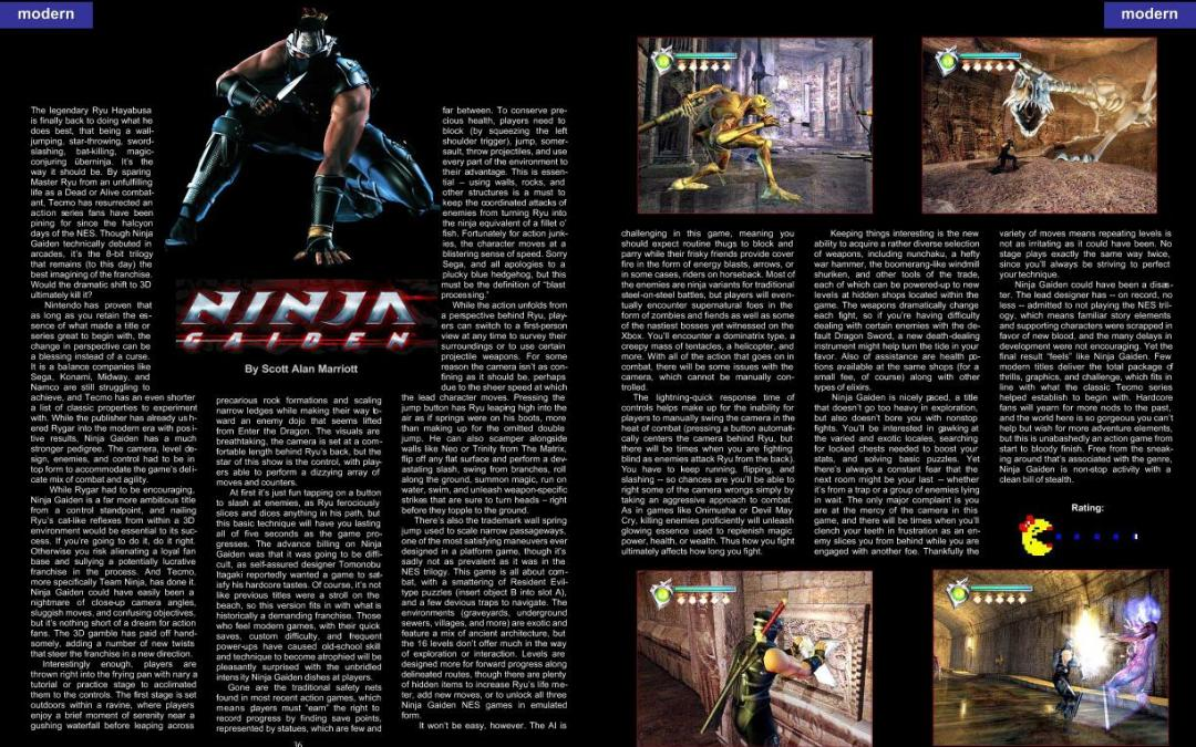 Ninja Gaiden By Scott Alan Marriott