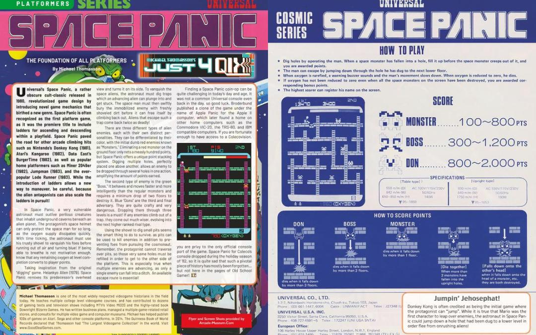 Just for Qix: Space Panic – The Foundation of All Platformers – By Michael Thomasson