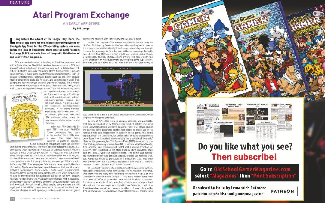 Atari Program Exchange – By Bill Lange