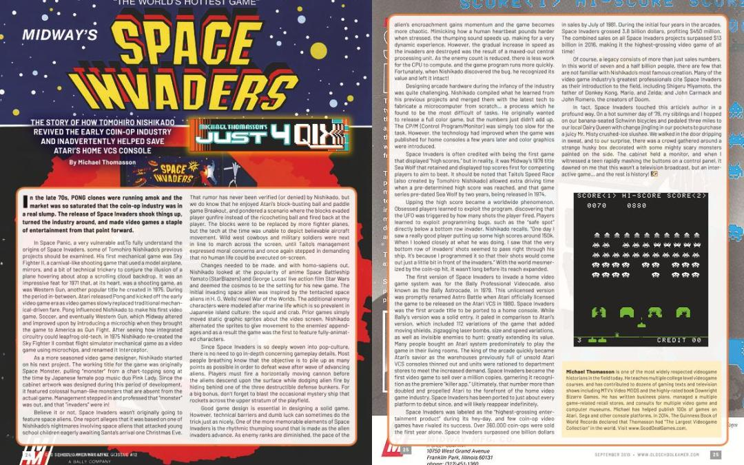 Just for Qix: Space Invaders – By Michael Thomasson