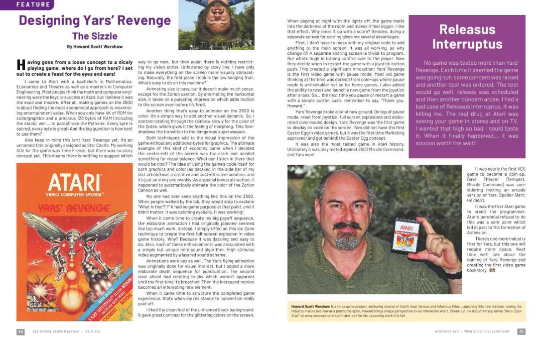 Designing Yars' Revenge: The Sizzle – By Howard Scott Warshaw