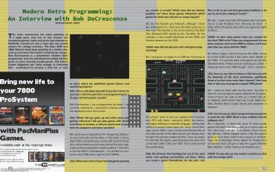 Modern Retro Programming: An Interview with Bob DeCrescenzo – by Brian Szarek, Editor