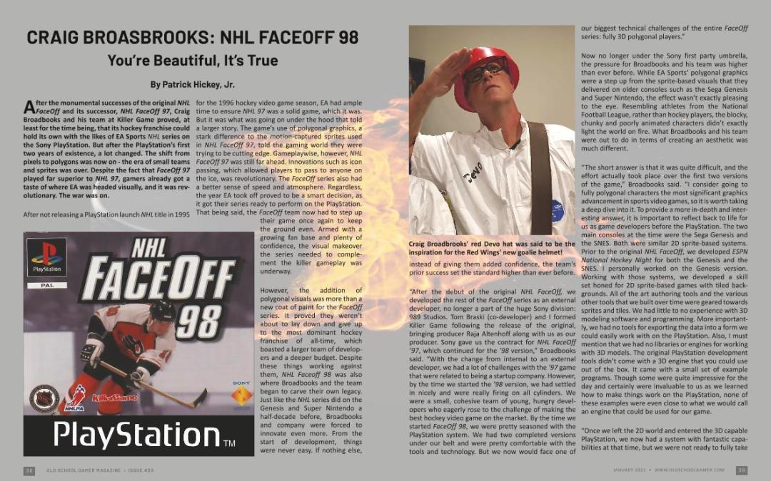 Craig Broadbrooks: NHL Faceoff '98 – by Patrick Hickey Jr.