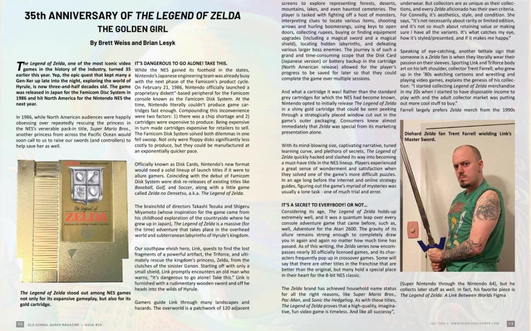 35th Anniversary of the Legend of Zelda – by Brett Weiss and Brian Lesyk