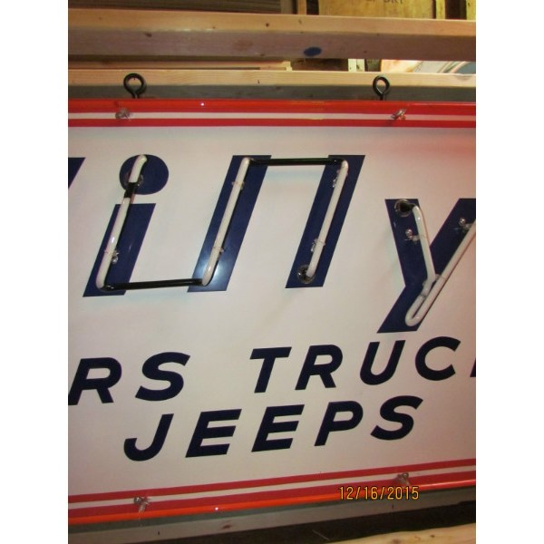 """Willy' """"cars Trucks Jeeps"""" Neon Sign 72""""wx36"""" - Ssn"""