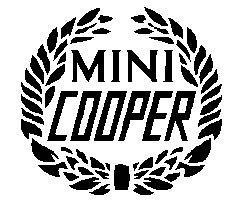 CLASSIC MINI BLACK COOPER LAUREL DECAL MSA1128 BOOT REAR