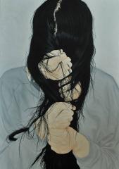 Iluustration of a woman by zhang shujian