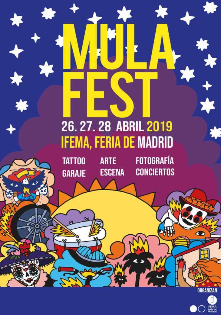 Cartel mulafest 2019 madrid