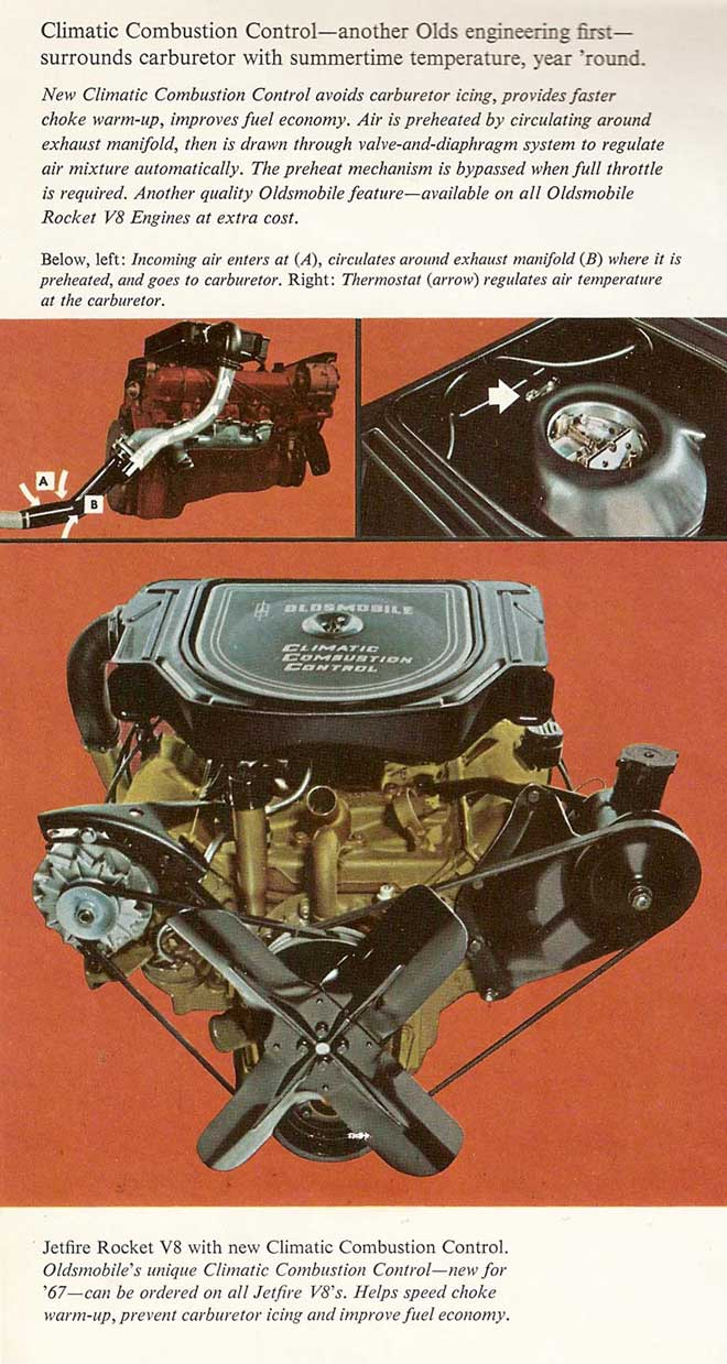 medium resolution of below is a diagram of the system in the 1967 oldsmobile dealership sales brochure
