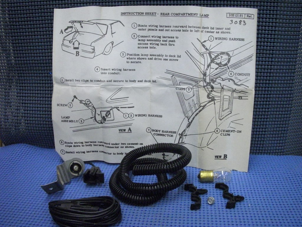hight resolution of 1980 1981 gm luggage compartment lamp package nos 996594
