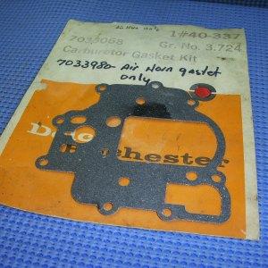 1966 - 1969 Chevrolet Carburetor Air Horn to Float Bowl Gasket NOS # 7033980