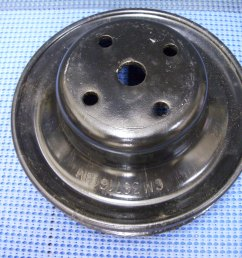 1977 1980 gm engine fan and water pump pulley nos 367161 [ 3264 x 2448 Pixel ]