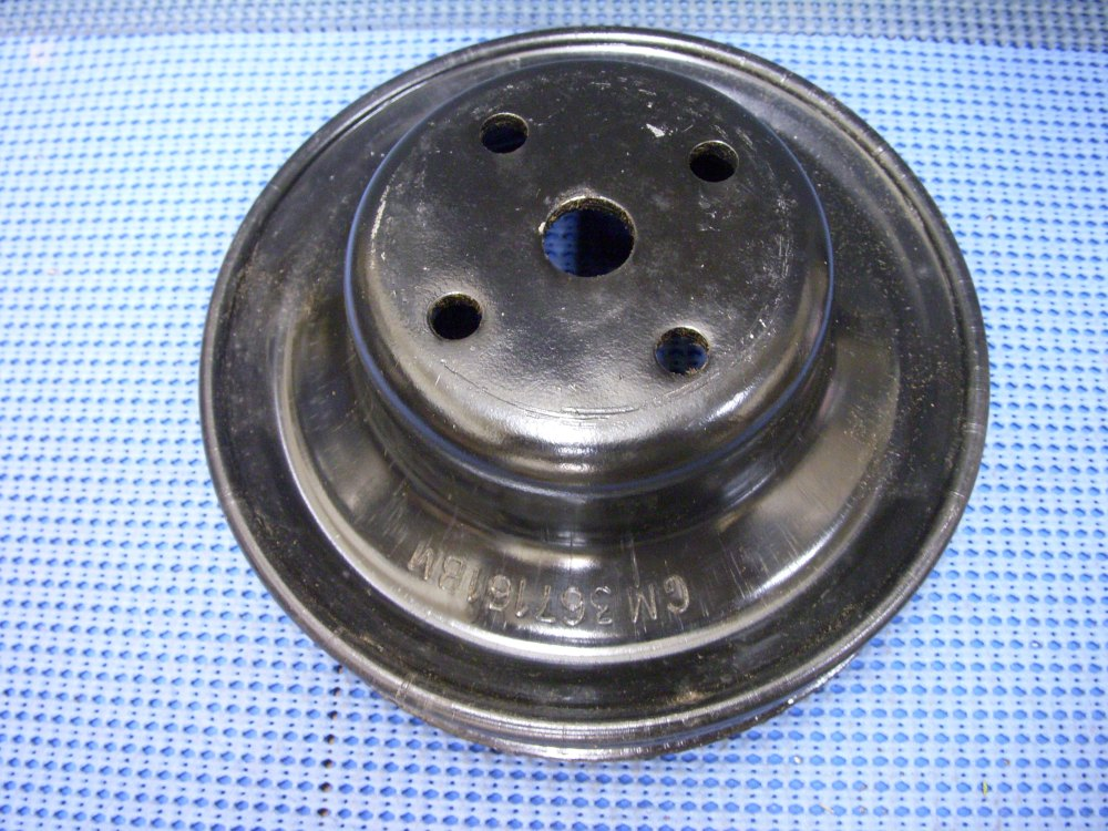 medium resolution of 1977 1980 gm engine fan and water pump pulley nos 367161