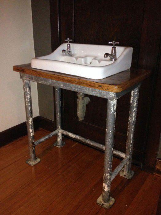 vintage industrial bathroom basin old