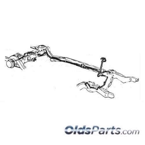 1968 Cutlass 442 Hard Top Brake Line Set Power Drum