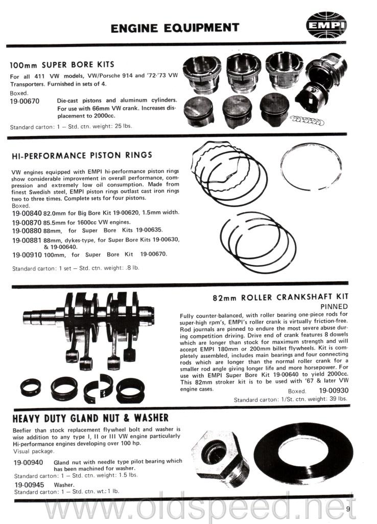 OldSpeed EMPI Catalog 1973