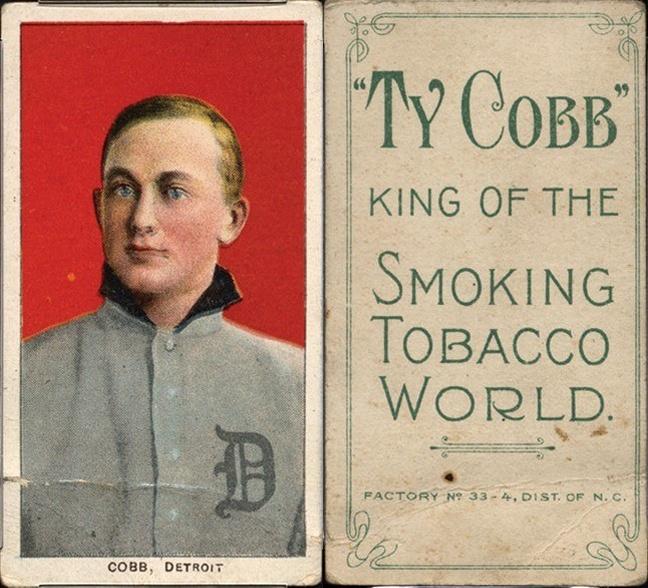 1909-11 T206 Ty Cobb baseball card Ty Cobb back