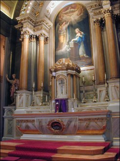 View of reredos and high altar