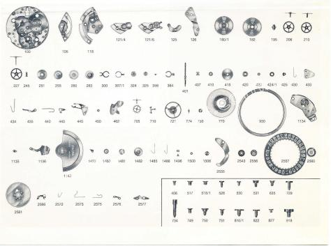 Enicar AR 165 D watch parts