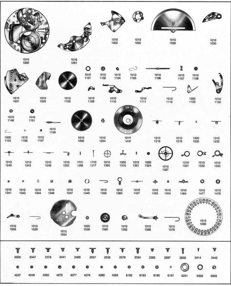 Omega 1020 watch parts
