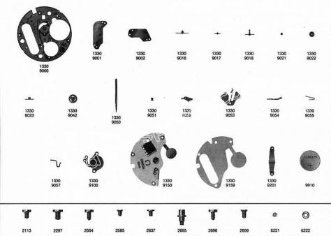 Omega 1330 watch parts