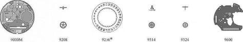 Omega 1436 watch date parts