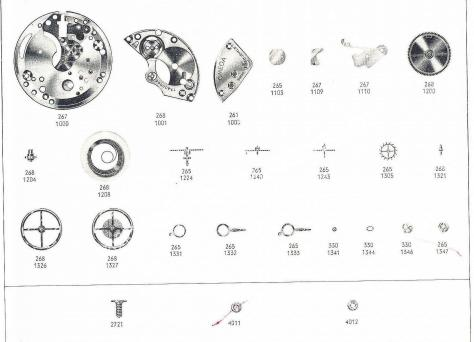 Omega 268 watch part