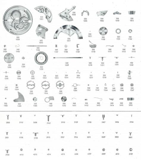 Omega 353 watch parts