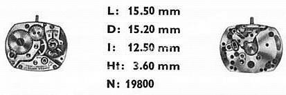 Omega 482 watch movements