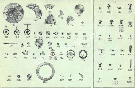 FHF Font 73.4 watch spare parts