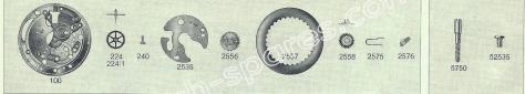 FHF Font 811.2 watch date spare parts