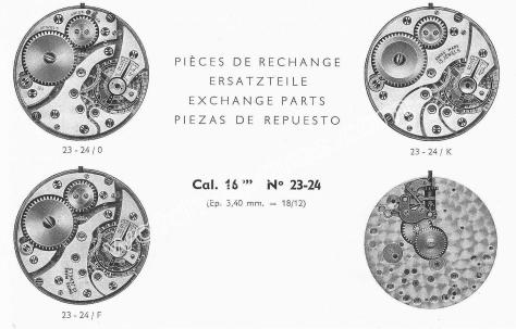 Record 23.24 watch movements