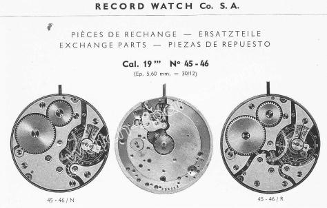 Record 45 46 watch movements