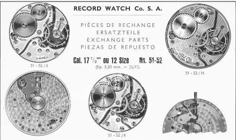 Record 51 52 watch movements