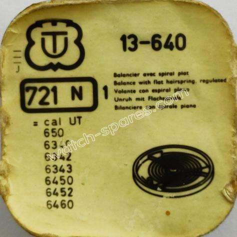 Unitas 640 Part 721 Complete Balance