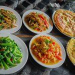 6 dishes - Pear Blossom Organic - Shaxi Pear Orchard Temple - Yunnan China