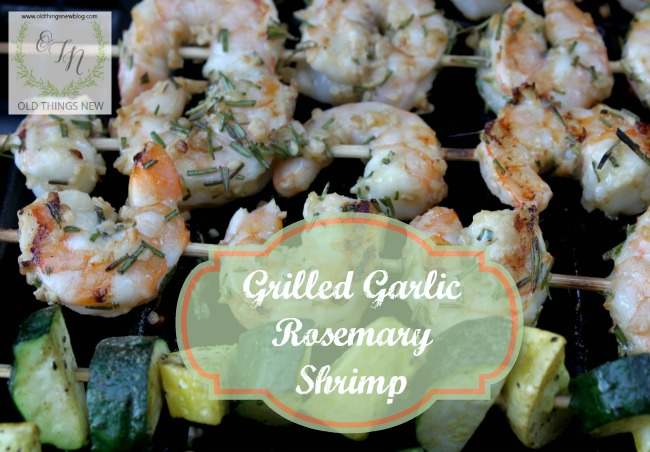 Grilled Rosemary Garlic Shrimp
