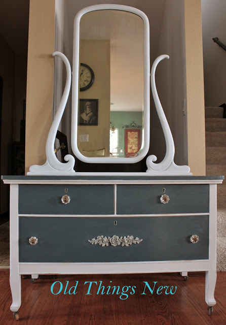 Vintage Dresser Amp Mirror Update Old Things New