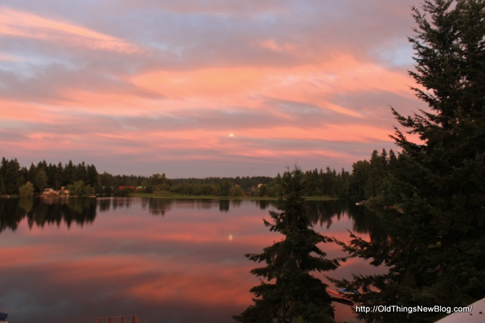 1-Sunset over Pattison lake 001